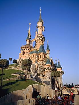Euro Disneyland, Cinderella Castle, Paris, France