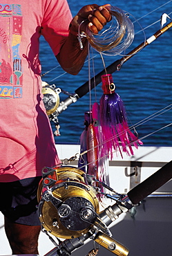 Mauritius, Big Game Fishing Boat, Close-Up