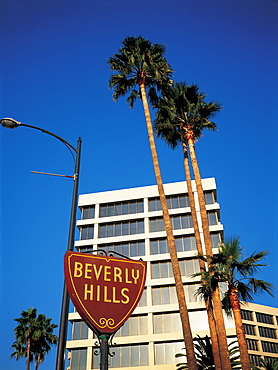 Los Angeles, Beverly Hills, Buildings & City Sign
