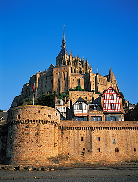 Mt St Michel, Ramparts, Normandy, France