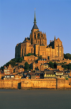Mt St Michel, High Tide, Normandy, France