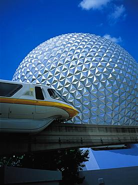 Epcot Attraction Park And Monorail, Orlando, Florida, Usa