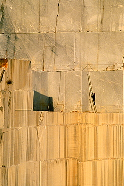 Marble quarry, Carrara, Tuscany, Italy, Europe