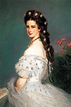 Sissi Portrait By Winterhalter, Vienna, Austria