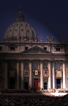 Italy, Rome, Vatican, St. Peterõs Square, The Basilica (Enhanced With Special Effect)