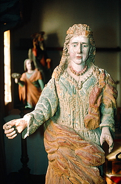 France, Corsica, Balagne, Calvi, Oratory Saint Antoine, Baroque Wooden Statue
