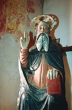 France, Corsica, Balagne, Calvi, Oratory Saint Antoine, Baroque Wooden Statue Of Saint Antoine