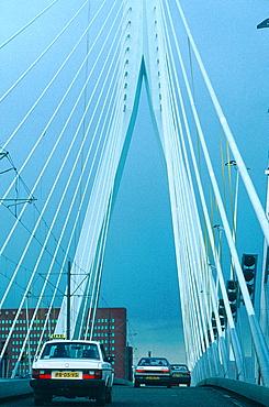 Netherlands, Rotterdam, On The Erasmus Bridge
