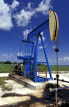 Caribbean, West Indies, Barbados, Oil Drilling, Pumping Oil