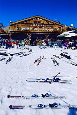 Apres-ski at Megeve, Haute-Savoie, France