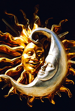Sun and Moon decorative details, Venice, Italy