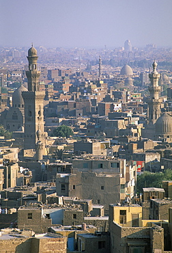 View of city skyline from the Citadel, Cairo, Egypt, North Africa, Africa