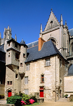 Gothic cathedral, Nantes, Loire Atlantique, France, Europe