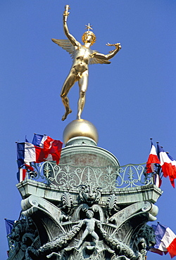 The Genie, symbol of the French Revolution, Bastille, Paris, France, Europe