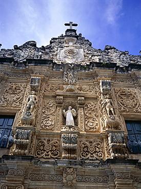 Stone facade, San Francisco Christian church, Salvador, Bahia, Brazil, South America