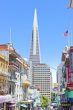 TransAmerica Building from Chinatown, San Francisco, California, United States of America, North America