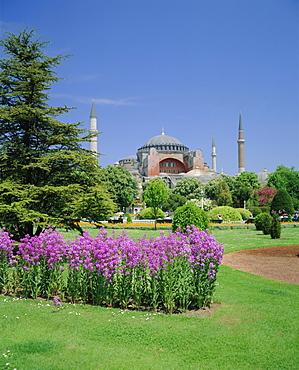 Saint Sophia Mosque (Church) and Sultan Ahmet Park, Istanbul, Turkey, Eurasia