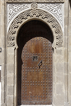 Door in the heart of the medina, Essaouira, historic city of Mogador, Morocco, North Africa, Africa