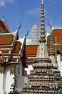 Wat Phra Chetuphon (Wat Pho) (Wat Po), founded in the 17th century, the oldest temple in the city, Bangkok, Thailand, Southeast Asia, Asia