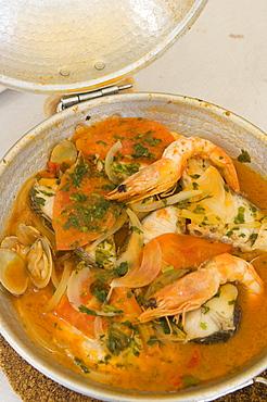 Speciality dish of Cataplana, Algarve, Portugal, Europe