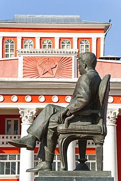 Sukhbaatar Square, National Theatre, Ulan Batar, Mongolia, Central Asia, Asia