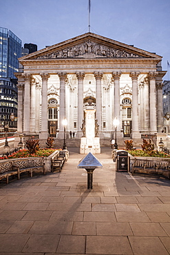Royal Exchange Building in the City of London, London, England, United Kingdom, Europe