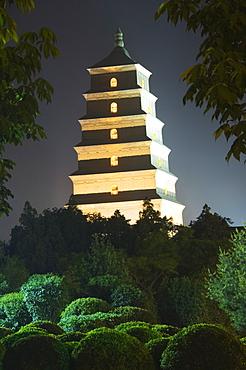 Big Goose Pagoda Park, Tang Dynasty built in 652 by Emperor Gaozong, Xian City, Shaanxi Province, China, Asia