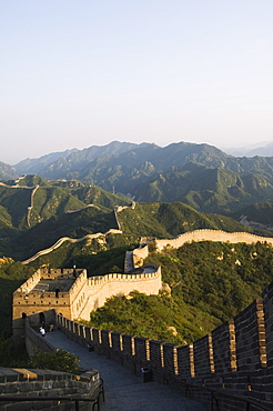 Great Wall of China at Badaling, first built during the Ming dynasty between 1368 and 1644, restored in the 1980s, UNESCO World Heritage Site, near Beijing, Hebei Province, China, Asia