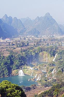 Detian Falls, China and Vietnam transnational waterfall, Guangxi Province, China, Asia