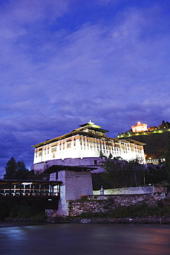 Paro Rinpung Dzong dating from 1644, Paro, Bhutan, Asia