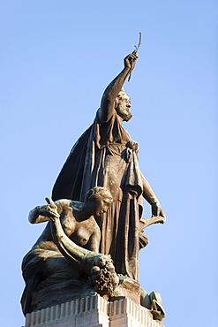 Monumento a los dos Congresos, at the National Congress Building, Plaza del Congreso, Buenos Aires, Argentina, South America