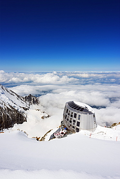Mont Blanc Gouter refuge, Chamonix Valley, Rhone Alps, Haute Savoie, France, Europe