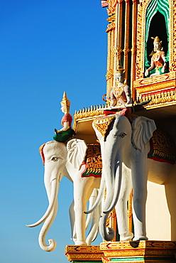 Elephant detail, Wat Tham Sua temple, Kanchanaburi, Thailand, Southeast Asia, Asia