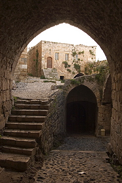 Archway in Krak des Chevaliers castle (Qala'at al-Hosn), Syria, Middle East