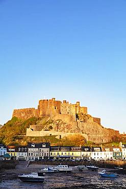 Mont Orgueil Castle (Gorey Castle), Gorey, Jersey, Channel Islands, United Kingdom, Europe