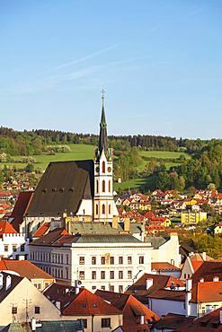 Church of St. Vitus, Cesky Krumlov, UNESCO World Heritage Site, South Bohemia, Czech Republic, Europe