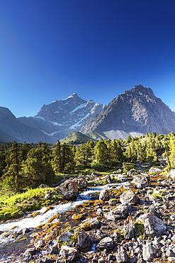 Mountain stream, Fan Mountains, Tajikistan, Central Asia, Asia