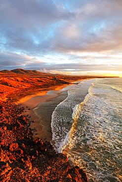 El Cotillo coastal scenery at sunset, Fuerteventura, Canary Islands, Spain, Atlantic, Europe