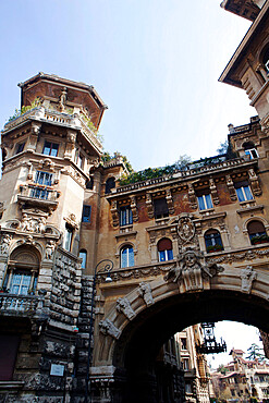 The Ambassadors towers (Palazzi degli Ambasciatori), Coppede district, Rome, Lazio, Italy, Europe - 739-1496