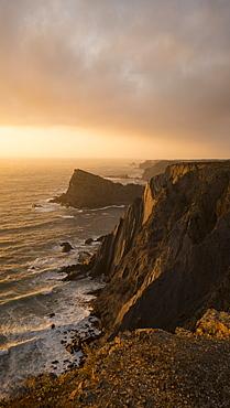 Cliffs near Arrifana beach, Costa Vicentina, Algarve, Portugal, Europe