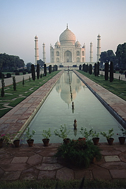 Taj Mahal, UNESCO World Heritage Site, Agra, Uttar Pradesh state, India, Asia