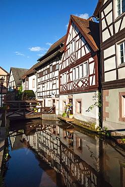 Annweiler am Trifels, Millwheel, River Queike, Rhineland-Palatinate, Germany, Europe