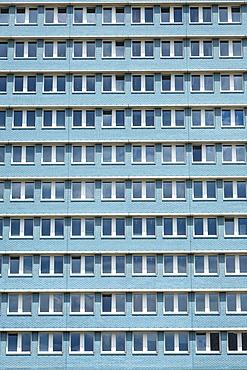 Stalinist architecture of apartment building on Karl Marx Allee, Friedrichshain, Berlin, Germany, Europe