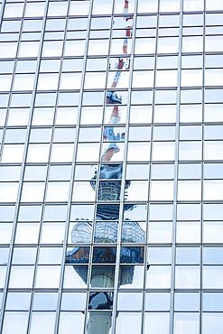 Berlin TV tower (Fernsehturm Berlin) at Alexanderplatz, Berlin, Germany, Europe
