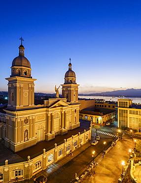 Nuestra Senora de la Asuncion Cathedral at Parque Cespedes, Santiago de Cuba, Cuba, West Indies, Caribbean, Central America
