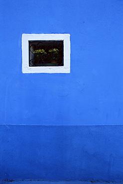 Detail of house front, island of Burano, Venetian Lagoon, Venice, Veneto, Italy, Europe