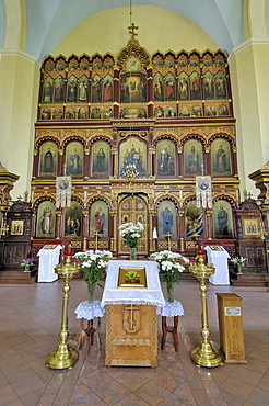 Interior of the Church of the Holy Mother of God, Vilnius, Lithuania, Baltic States, Europe