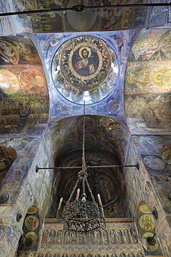 Frescoes inside the Princely Church, Court of Arges, Curtea de Arges, Wallachia, Romania, Europe