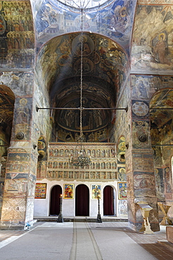 Frescoes inside Princely Church, Court of Arges, Curtea de Arges, Wallachia, Romania, Europe
