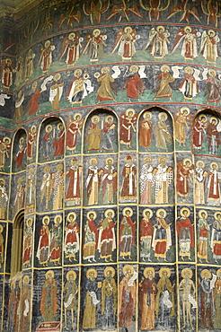 Painted monastery of Sucevita, Moldavia and Southern Bucovina area, Romania, Europe